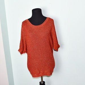 Beautiful Pumpkin Colored Knit Blouse